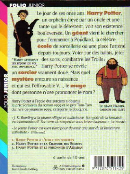 Order Harry Potter A L Ecole Des Sorciers Folio 899